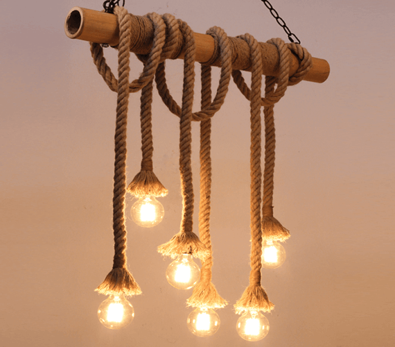 Touwlamp Chandelier