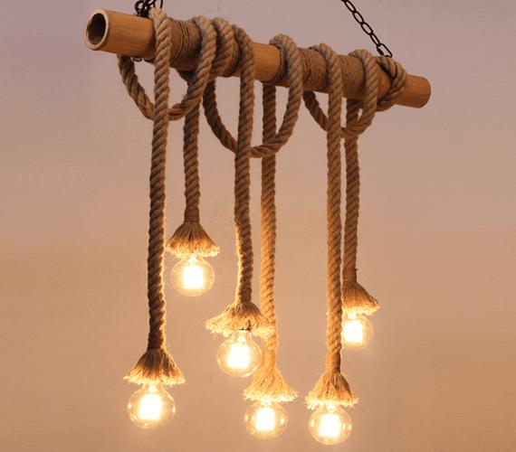 Touwlamp Chandelier