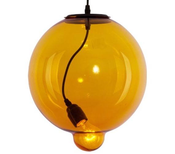 Hanglamp Glass Bubble Amber