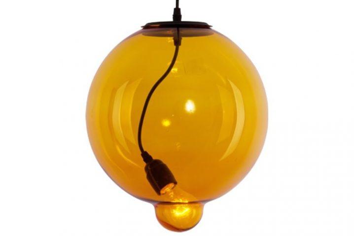 Hanglamp Glass Bubble Amber