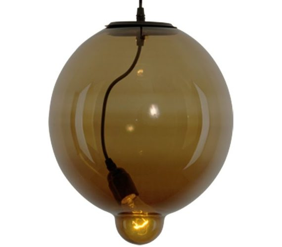 Hanglamp Glass Bubble Brown
