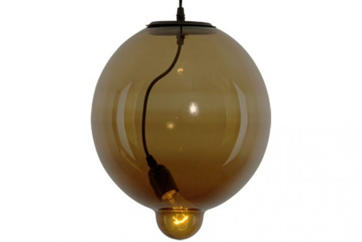 Hanglamp Glass Bubble Brown