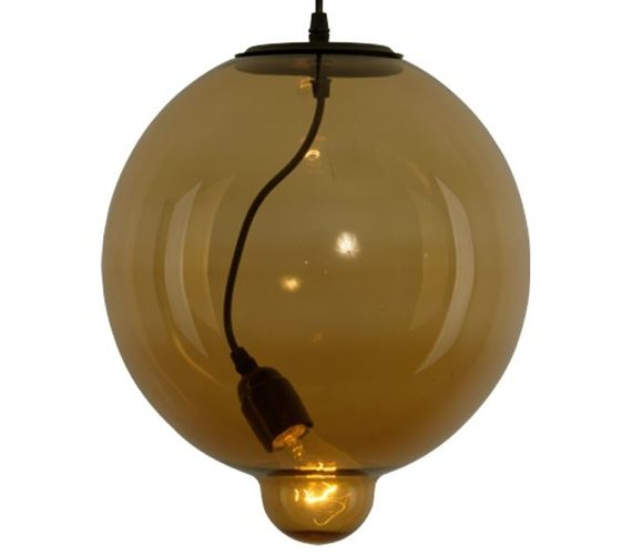 Glass Bubble Cognac hanglamp