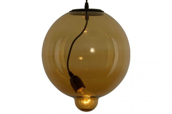 Glass Bubble Cognac hanglamp