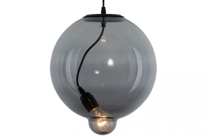 Hanglamp Glass Bubble Smoke