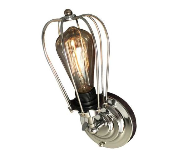 Wandlamp Cage Chrome