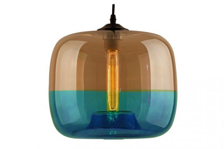 Edison Glass 05 Amber Blue