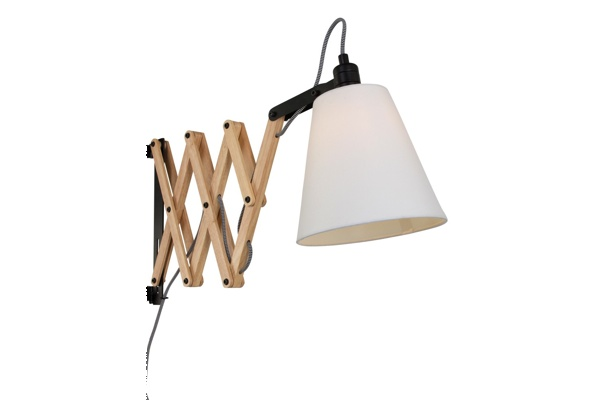 Schaarlamp Liz XL Wit