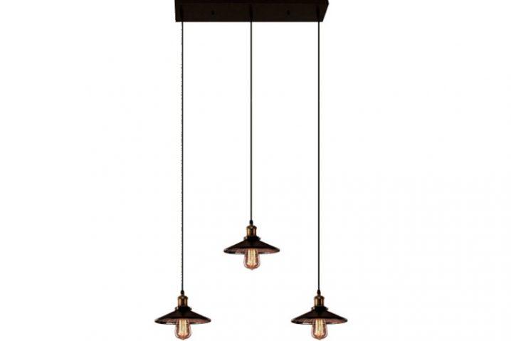 Chandelier Edison Loft Zwart