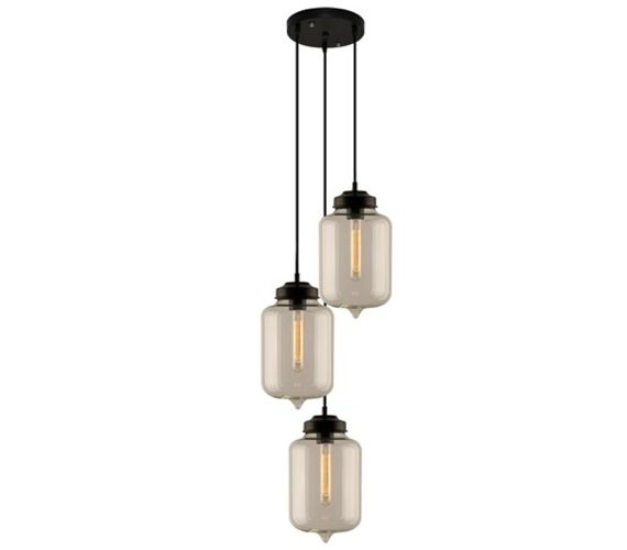 Edison Glass Chandelier