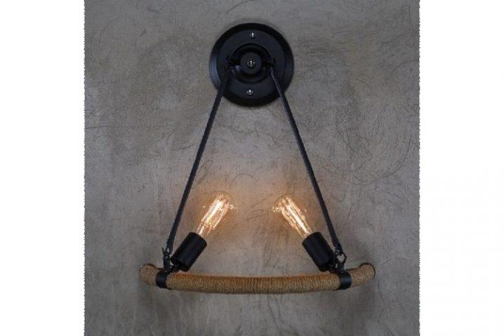 Wandlamp Rope & Iron
