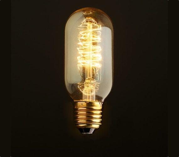 Edison kooldraadlamp T45