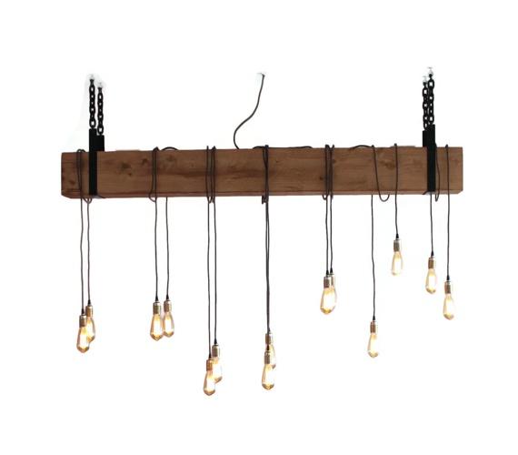 Houten hanglamp Douglas Bar No.1