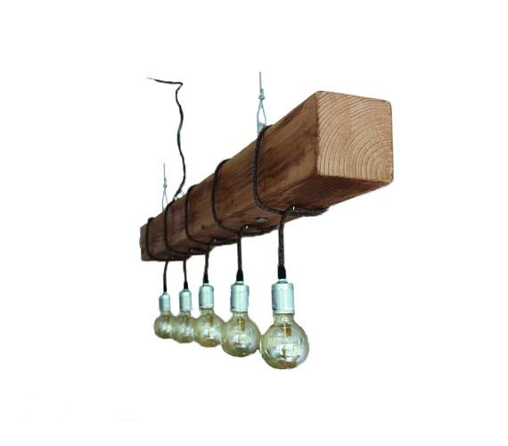 Houten hanglamp Douglas No.1
