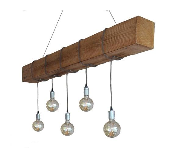 Houten hanglamp Douglas No2