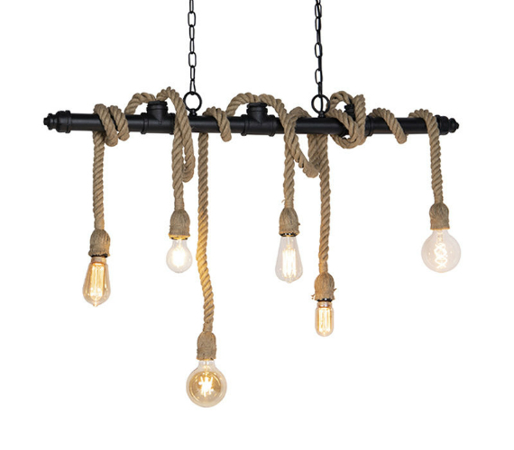 Touwlamp Chandelier No.5