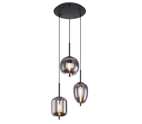 Glazen hanglamp Black Smoke 3