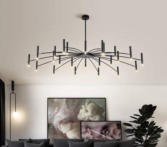LED kroonluchter Umbrella 12+12 Black