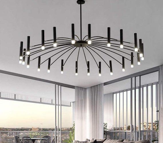 LED kroonluchter Umbrella Black 24