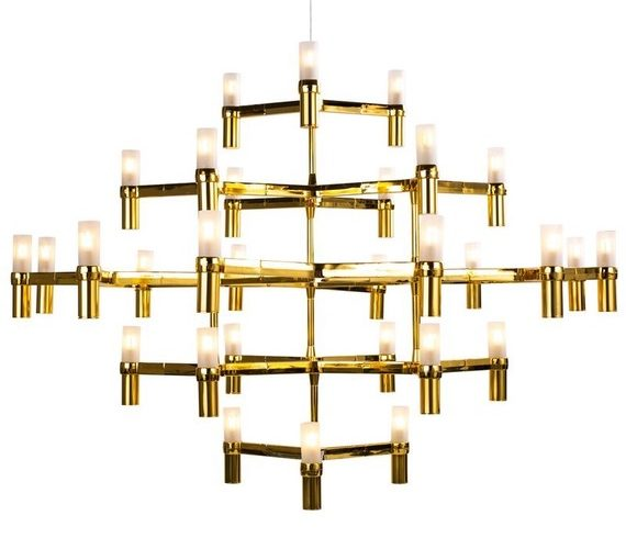 Design kroonluchter Candles 30 Gold