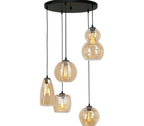 Glazen hanglamp Quincy Amber