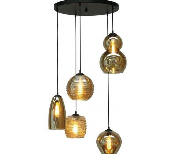Glazen hanglamp Quincy Smoke