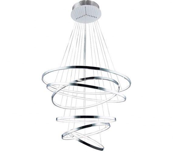 LED hanglamp Wheel 6 Chrome