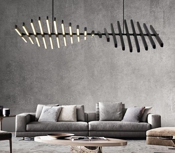 Fishbone LED Chandelier