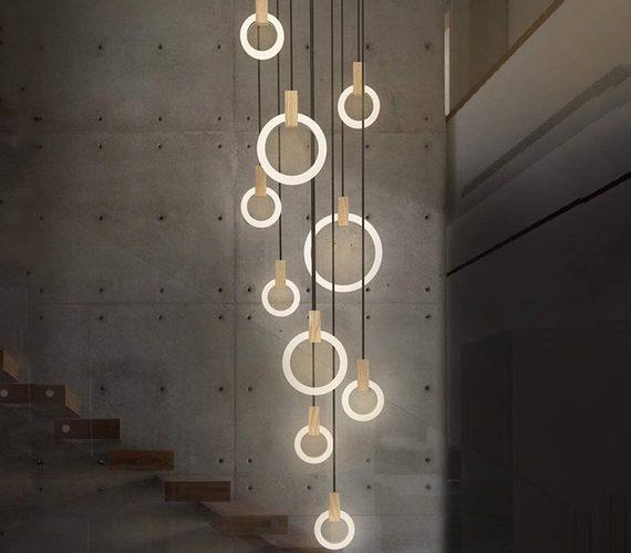 Design hanglamp Wooden Rings