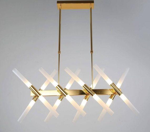 Hanglamp Golden Tubes