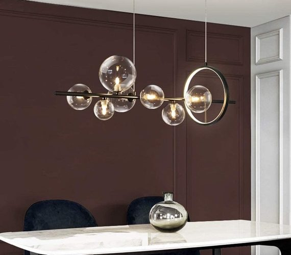 Black Bubble LED Chandelier