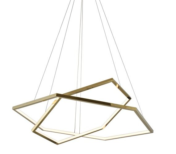 LED Hanglamp Double Hex Gold