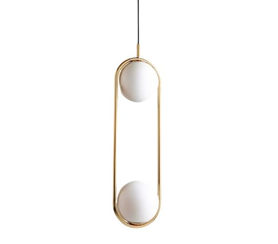 Art deco hanglamp Elipse Duo