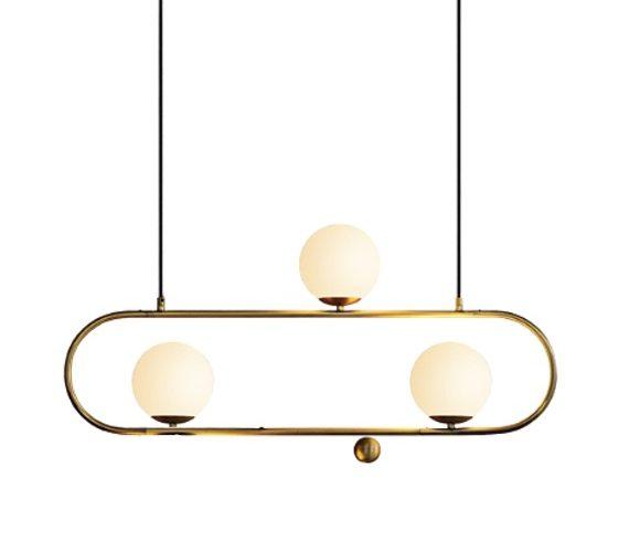 Art deco hanglamp Elipse L