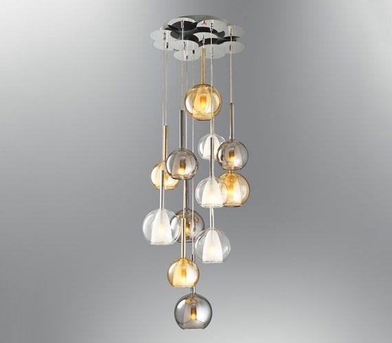 Glazen hanglamp Color Bells