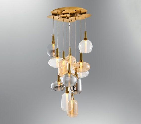 Glazen hanglamp Bell Jars