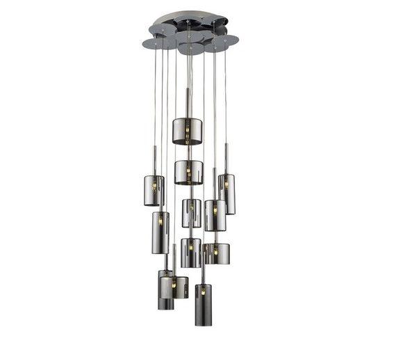 Glazen hanglamp Pots Chrome