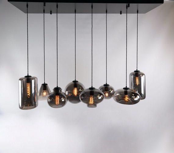 Glazen hanglamp Smoke Bowls 8