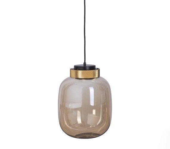 Glazen hanglamp Boom Amber