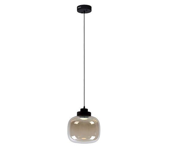 Glazen hanglamp Drop Cognac