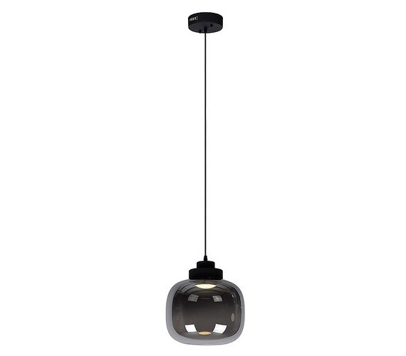 Glazen hanglamp Drop Smoke