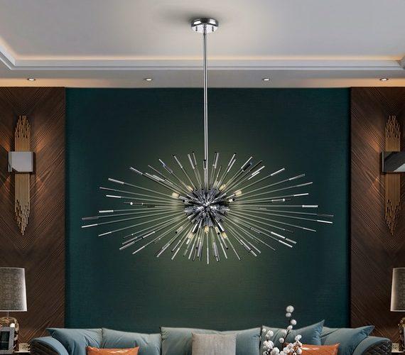 Sputnik hanglamp Evasion Chrome