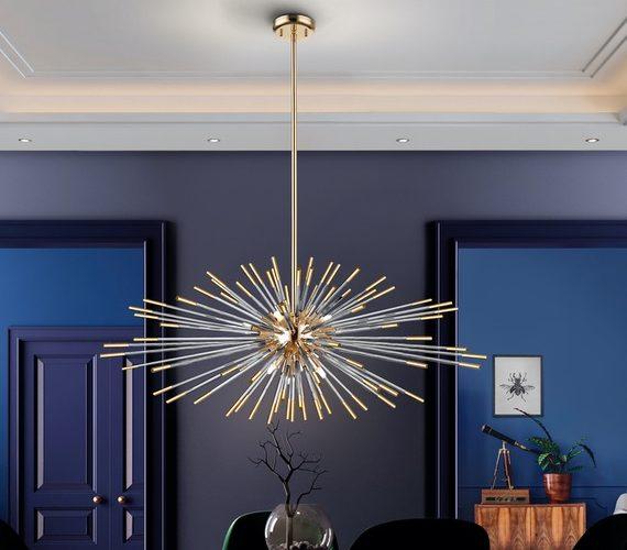 Sputnik hanglamp Evasion Gold