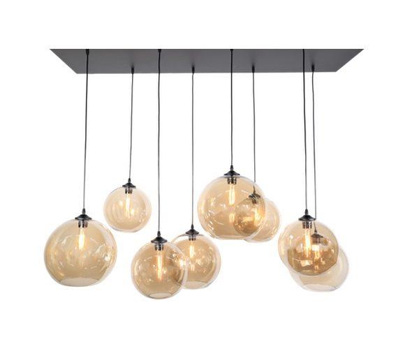 Glazen hanglamp Giba Amber