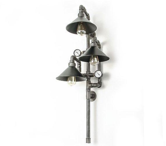 Steampunk Wandlamp 042