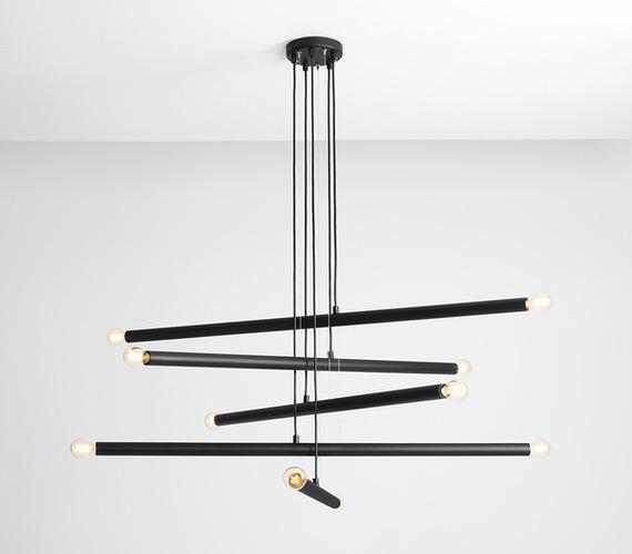 Hanglamp Tubo 10 Black
