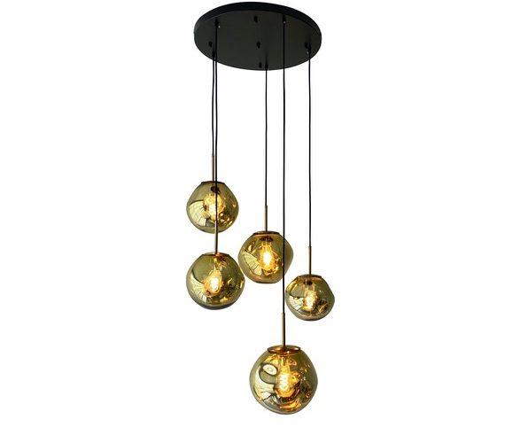 Glazen hanglamp Dino Eggs Gold