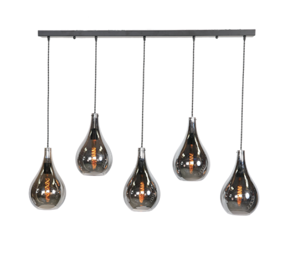 Glazen hanglamp Fact Smoke