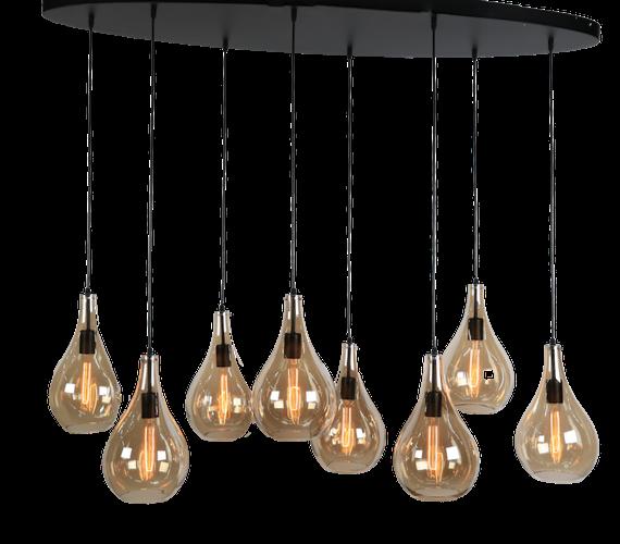 Glazen hanglamp Ovalia
