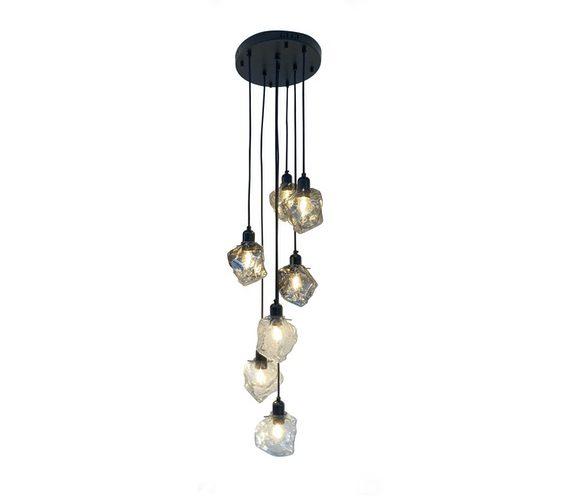 Glazen hanglamp Stones Mix